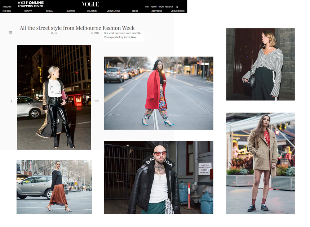 fafa4c8f236 Karen has partnered with the City of Melbourne to capture fashion on the  streets during Melbourne Fashion Week held during September 2017.